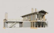 деревянный дом  каркас 7